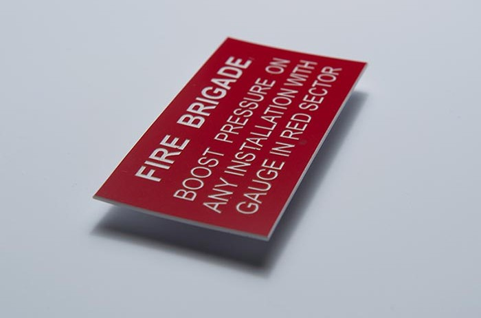 Engraved Plastic Label